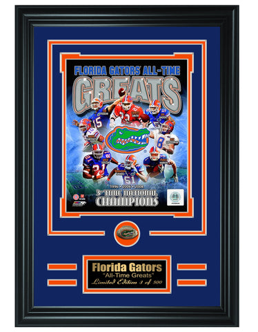 Florida Gators -All-Time Greats Limited Edition Collage - National Memorabilia