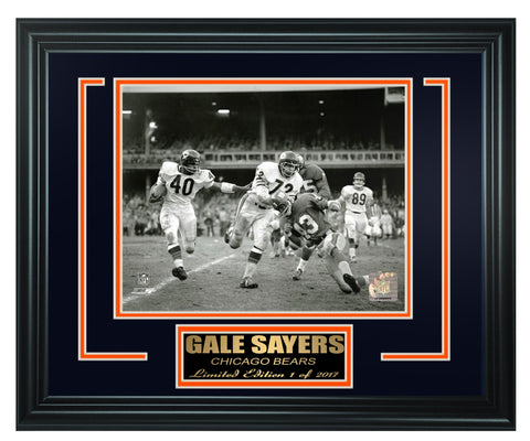 Chicago Bears- Gale Sayers Limited Edition Frame FTSJB029 - National Memorabilia