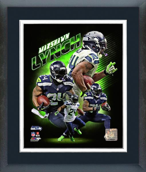 Seahawks-Marshawn Lynch Portraits Plus 8x10 Framed.
