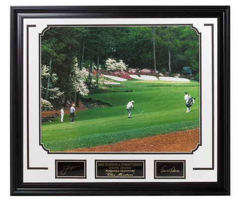 Golf-Arnold Palmer & Jack Nicklaus Masters 13th hole - National Memorabilia