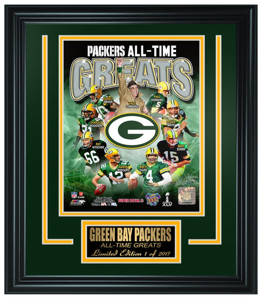 Green Bay Packers All-Time Greats Limited Edition Frame. FTSOC165