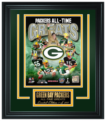Green Bay Packers All-Time Greats Limited Edition Frame. FTSOC165 - National Memorabilia