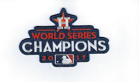 Astros 2017 MLB World Series Champions Logo Patch