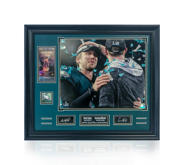 Eagles- Nick Foles & Carson Wentz Super Bowl Celebration FW1620CONFETI