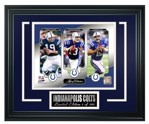 Indianapolis Colts- Legacy Collection Unitas,Manning and Luck FTSQN176 - National Memorabilia