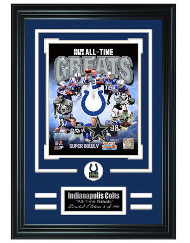 Indianapolis Colts -All-Time Greats Limited Edition Collage - National Memorabilia