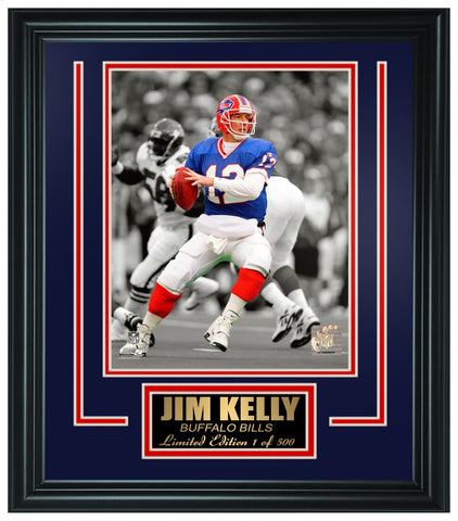 Buffalo Bills- Jim Kelly Limited Edition Frame FTSLV205 - National Memorabilia