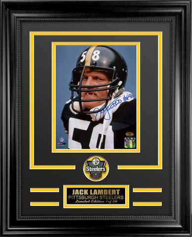 Jack Lambert Autographed Framed Photo