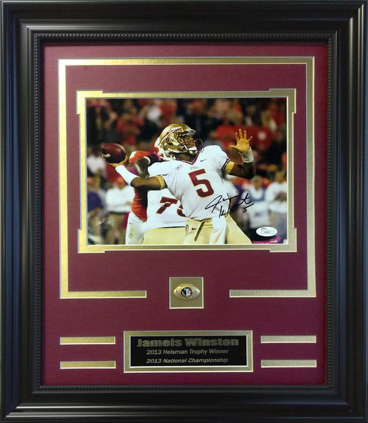 College- Florida State Seminoles- Jameis Winston Autographed 8x10 Framed Collage