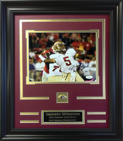 Florida State Seminoles- Jameis Winston Autographed 8x10 Framed Collage - National Memorabilia