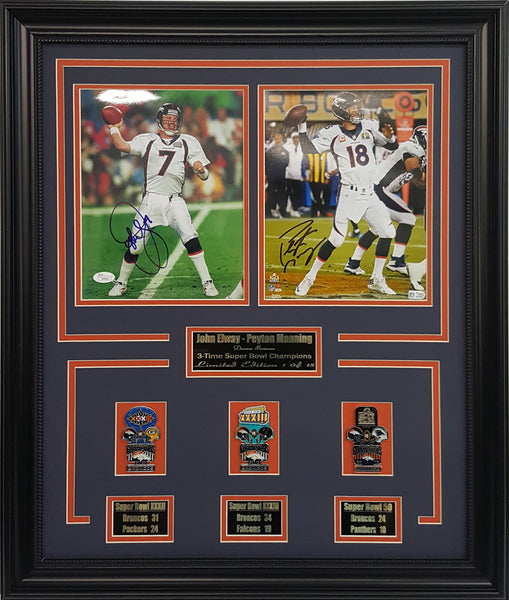 Broncos Elway And Manning  Super Bowl  Collage