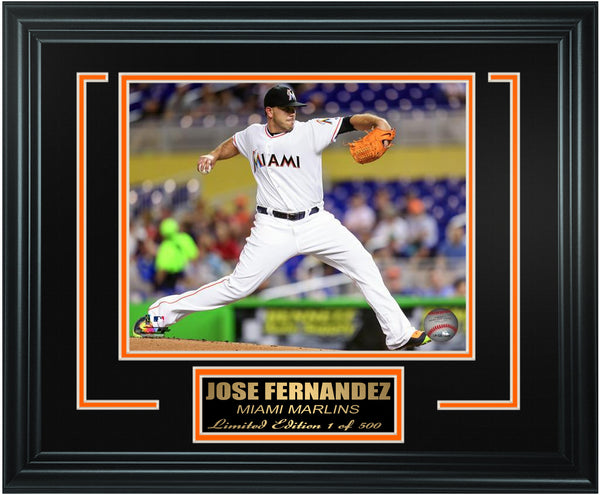 Miami Marlins-Jose Fernandez Limited Edition Frame. FTSSY025