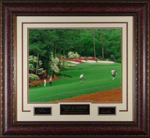 Golf-Nicklaus & Palmer Masters Replica Autograph Display - National Memorabilia