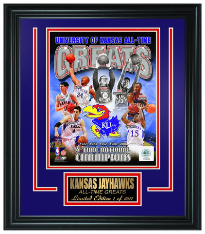 College Kansas Jayhawks All-Time Greats Limited Edition Frame.