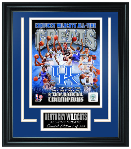 College Kentucky Wildcats All-Time Greats Limited Edition Frame. FTSPY099