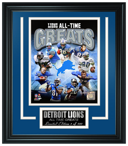 Detroit Lions All-Time Greats Limited Edition Frame. FTSRO071