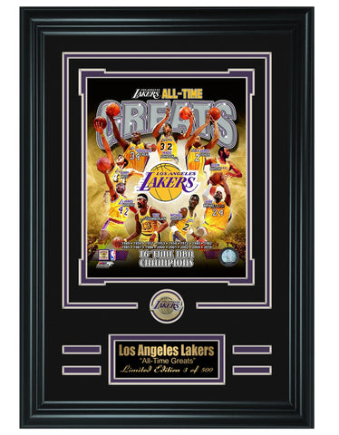 NBA Los Angeles Lakers -All-Time Greats Limited Edition Collage