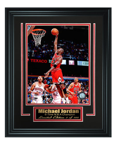 Chicago Bulls-Michael Jordan Framed 8x10 Photo Code FTSC012 - National Memorabilia