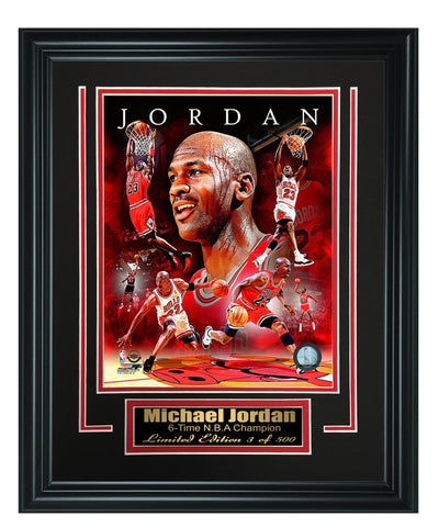 Chicago Bulls-Michael Jordan Framed 8x10 Photo Code FTSND141 - National Memorabilia