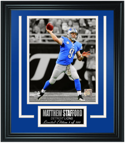 Detroit Lions Matthew Stafford Limited Edition Frame. FTSQM162 - National Memorabilia