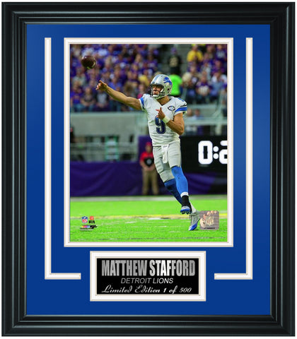 Detroit Lions Matthew Stafford Limited Edition Frame. FTSTN249 - National Memorabilia