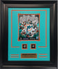 Rings Frame -Miami Dolphins All-Time Greats 2-Time Super Bowl Champion.