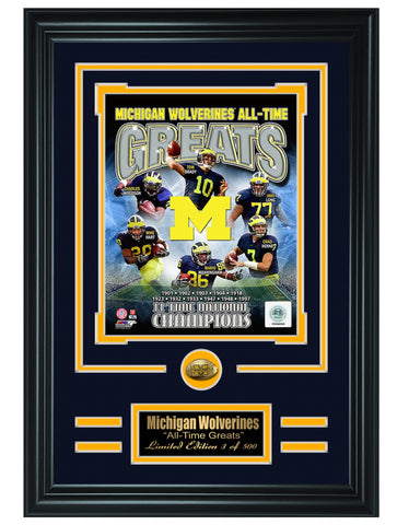 College Michigan Wolverines -All-Time Greats Limited Edition Collage