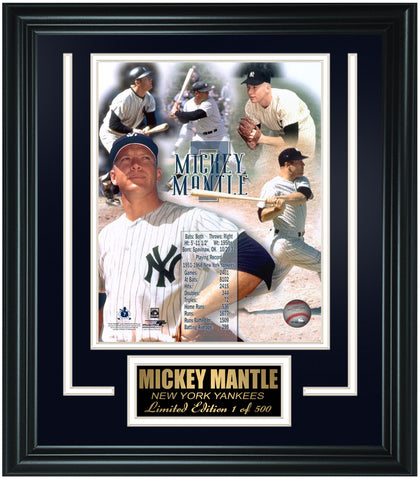 New York Yankees Mickey Mantle Limited Edition Frame. FTSNY095