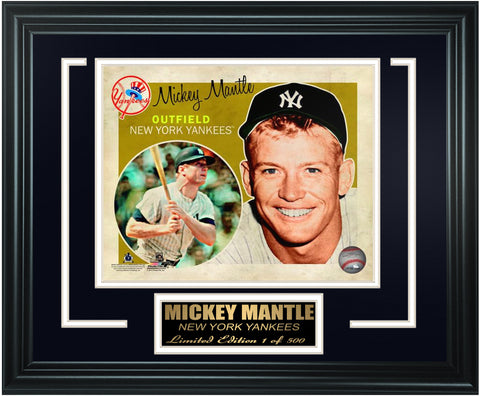 New York Yankees Mickey Mantle Limited Edition Frame. FTSOQ130