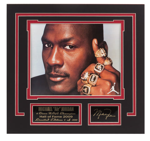 Bulls Michael Jordan 6-Time N.B.A.Champion - National Memorabilia