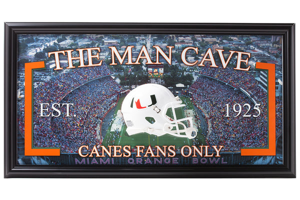College -MIami Hurricanes-Man Cave
