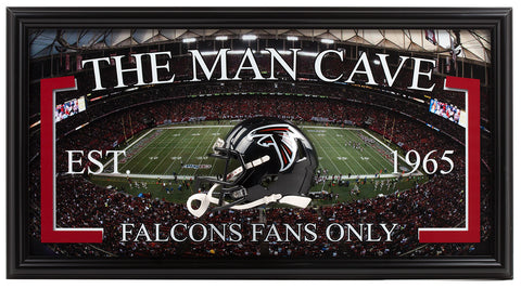 Falcons Man Cave Frame - National Memorabilia