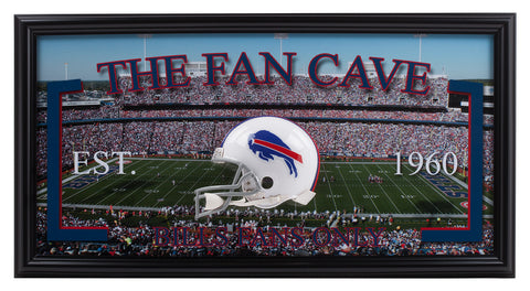 Buffalo Bills- Man Cave Frame - National Memorabilia