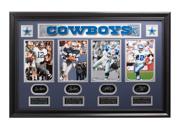 Cowboys Legends Staubach-Dorsett-Aikman-E.Smith Collage