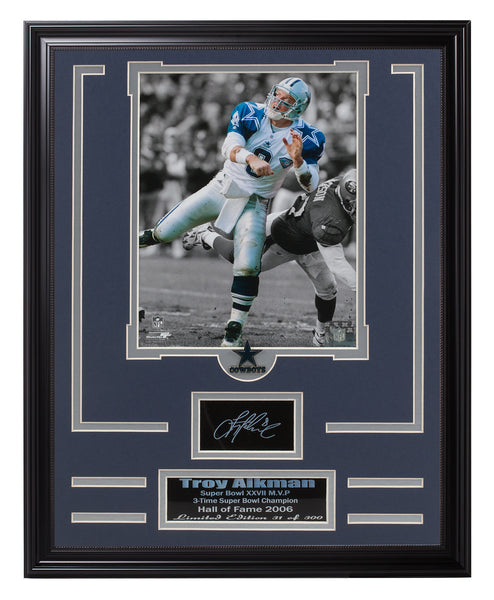N.F.L. Engraved Signature Frame -Troy AIkman.