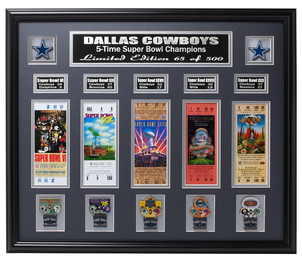 Cowboys 5-Time Super Bowl Champions Collage