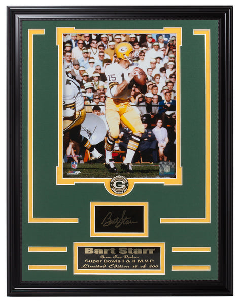 Packers Bart Starr Engraved Siganture Collage