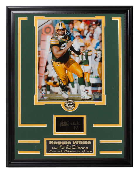 Packers Reggie White Limited Edition Engraved Signature Collage