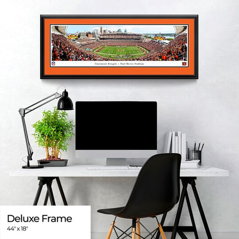 Cincinnati Bengals Panoramic Poster - Paul Brown Stadium Fan Cave Decor