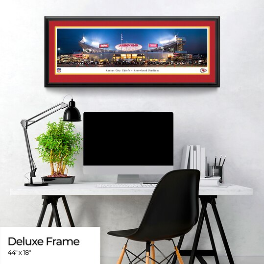 Kansas City Chiefs Panoramic Fan Cave Decor - Arrowhead Stadium NFL Poster