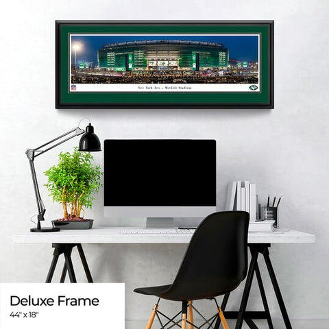 New York Jets Panoramic Fan Cave Poster - MetLife Stadium Picture