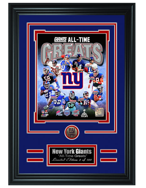 New York Giants -All-Time Greats Limited Edition Collage
