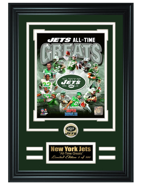 New York Jets -All-Time Greats Limited Edition Collage