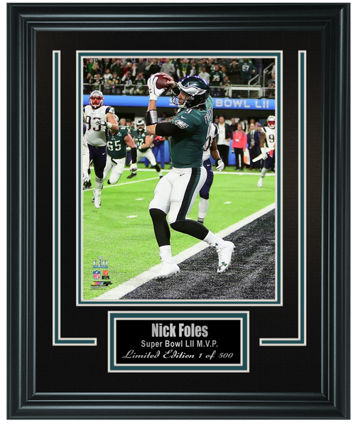 Nick Foles Touchdown Catch Super Bowl LII Framed Photo
