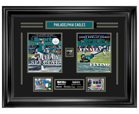 Eagles Nick Foles & Zach Ertz Super Bowl Champions Autographed Collage