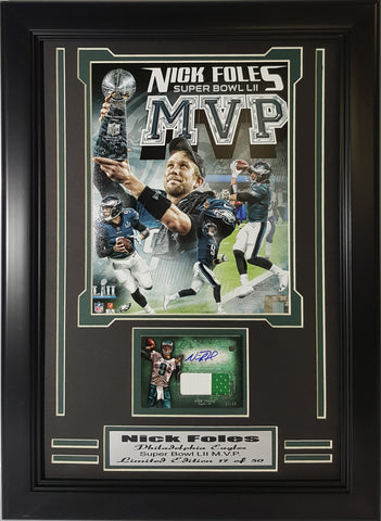 Eagles Nick Foles Autographed Super Bowl M.V.P. Collage  NFMVPCAUTO