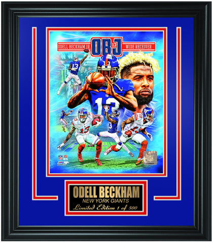 New York Giants Odell Beckham Limited Edition Frame. FTSTQ075