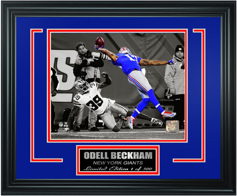 New York Giants Odell Beckham Limited Edition Frame. FTSRM191