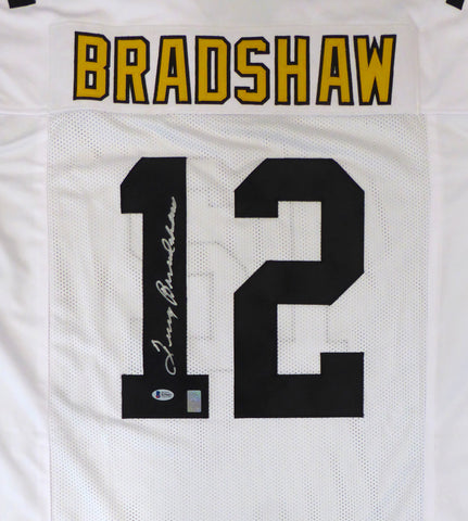 "Pittsburgh Steelers Terry Bradshaw Autographed White  Jersey ""#12"" PSA/DNA"