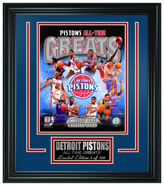 NBA Detroit Pistons All-Time Greats Limited Edition Frame FTSQS038